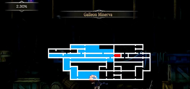 Bloodstained - Galleon Minerva Mapa