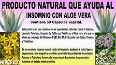 Producto natural que ayuda al Insomnio con Aloe vera 20