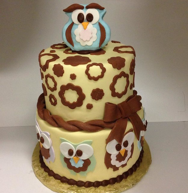 Owl Cake by Treat Cupcake Bar