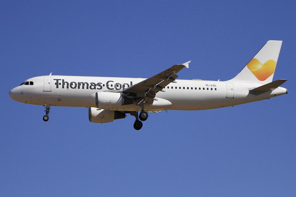 YL-LCL. A-320. Thomas Cook. PMI.