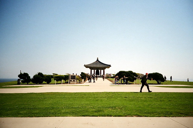 korean friendship bell and 2x photo bom.