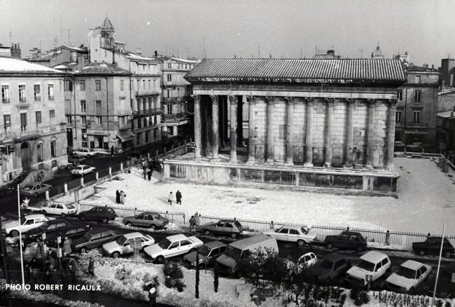 Foto de la Maison Carrée en los años ochenta