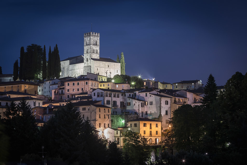 Town of Barga at Night
