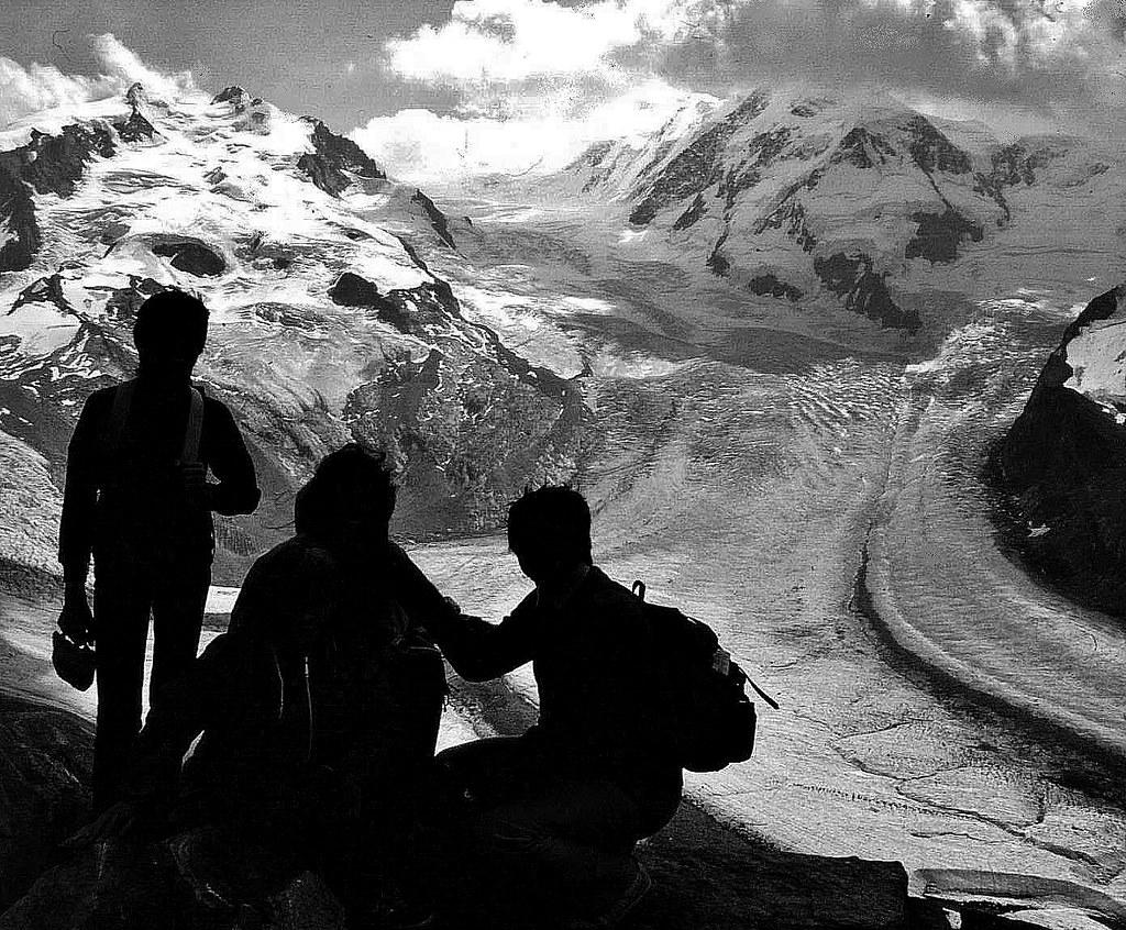 Schweiz, 1983  am Aletschgletscher , 76743/11624