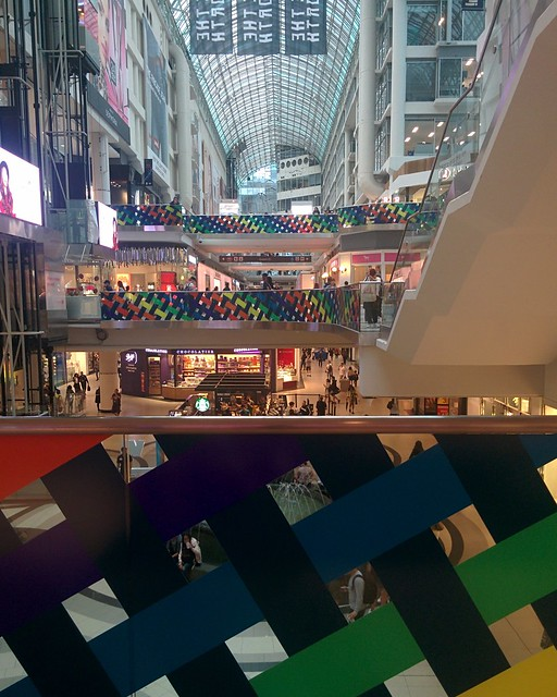 Rainbow stripes of Pride #toronto #eatoncentre #rainbow #publicart #pride #lgbtq