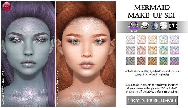 Mermaid Make-Up Set (Summerfest)