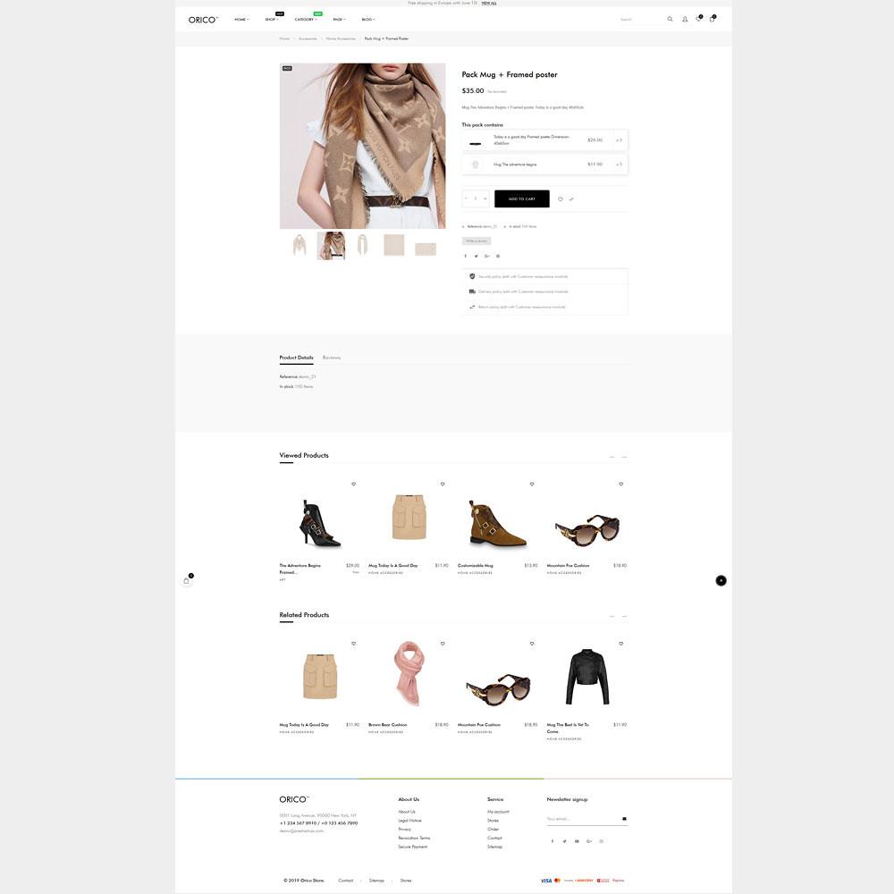 3.product detail page-orico unisex fashion prestashop theme