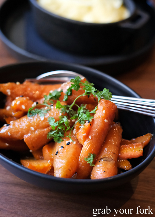 Glazed carrots at Esquire Drink and Dine in the QVB, Sydney