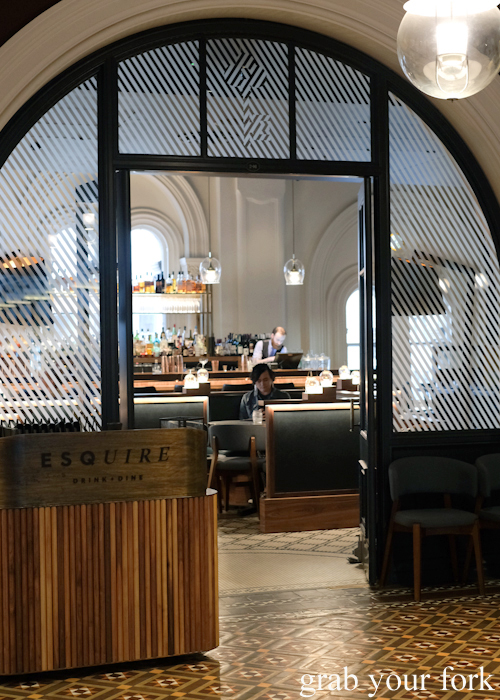 Entrance to Esquire Drink and Dine in the QVB, Sydney