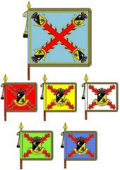Conoce los #SímbolosEjércitodeTierra . Grupo de #Caballería Ligero Acorazado 'Sagunto I/8'( Brigada 'Almogávares'#paracaidista )