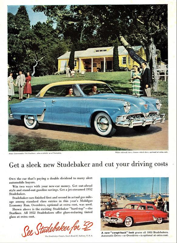 1952 Studebaker Commander V-8 Starliner