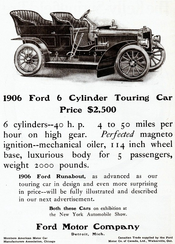 1906 Ford 6 Cylinder Touring