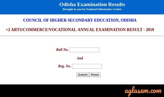 Odisha +2 Arts Result 2019