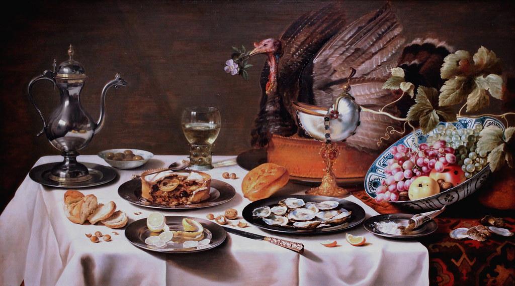 IMG_0064 Pieter Claesz. 1597-1660. Haarlem. Nature morte à la tarte.  Still life with pie 1627.  Rijksmuseum Amsterdam.