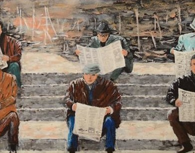 People reading newspapers | by mbranzea