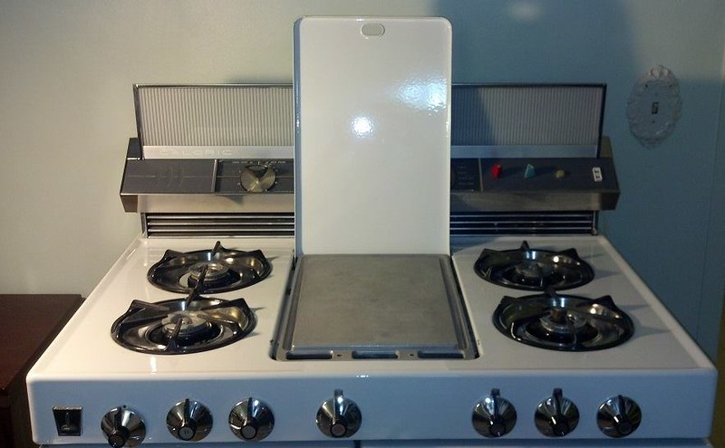 Stainless drip bowls and aluminum griddle