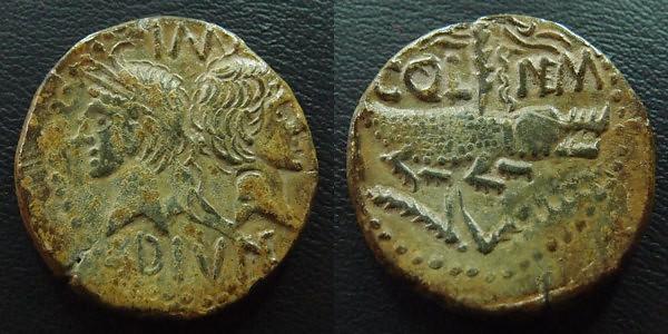 Moneda romana de Nimes (Dupondio de Nimes)