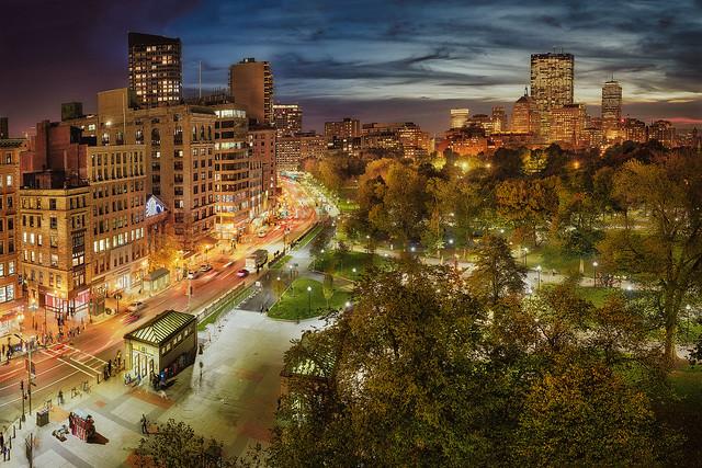 Boston Common from Park Street