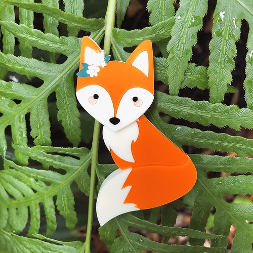 Deer Arrow Frankie the Fox Brooch