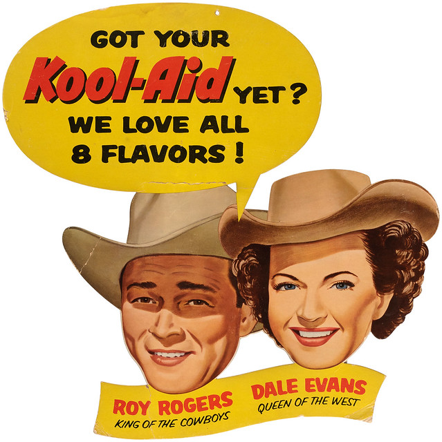 1950s Roy Rogers and Dale Evans Kool-aid sign
