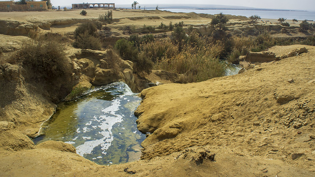 Fayoum's Wadi El-Rayan first water fall