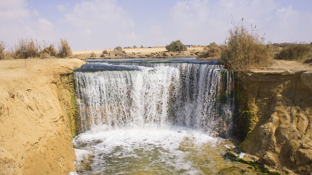 Fayoum's Wadi El-Rayan first water fall