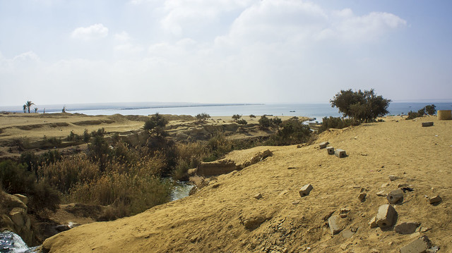 The lower lake in Fayoum's Wadi El Rayan