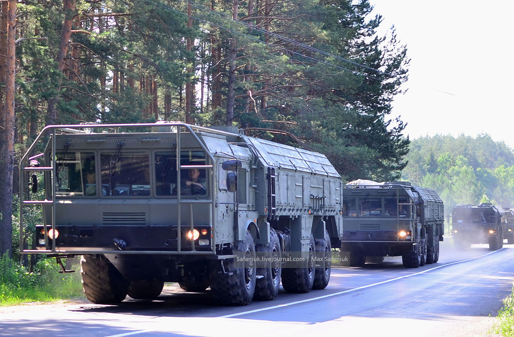 "Russian ""Iskander-M"" missile systems arrived in Minsk to participate in the Parade on July 3"