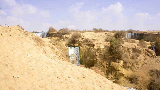 Fayoum's Wadi El-Rayan Waterfalls in Egypt