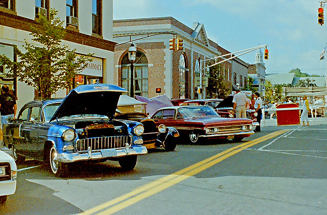 Line Up of Classic Cars, Bottle Hill Day Car Show, Madison, New Jersey (2 of 2)