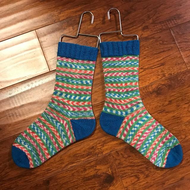 Nik loves to knit socks! Here are her Fairy Lights socks!