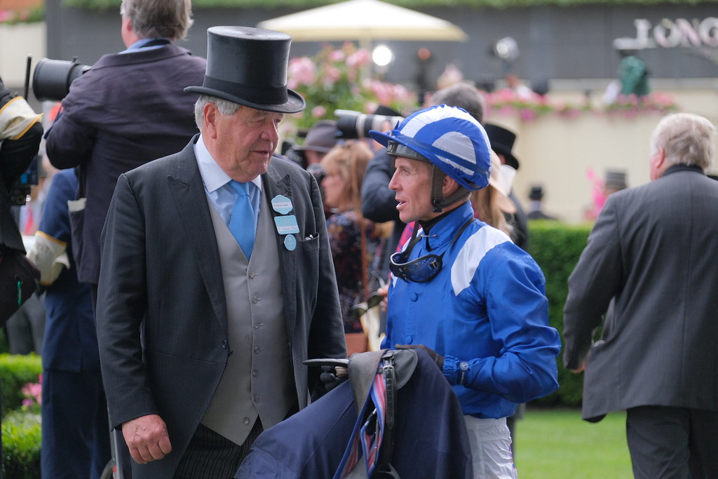 Sir Michael Stoute & Jim Crowley discuss Layaleena (IRE) | Flickr