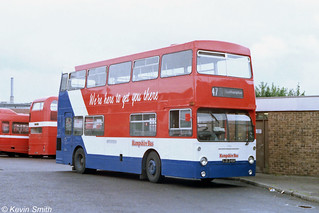 Hampshire Bus Leyland Fleetline 1926 OJD245R - Southampton - 8 July 1986