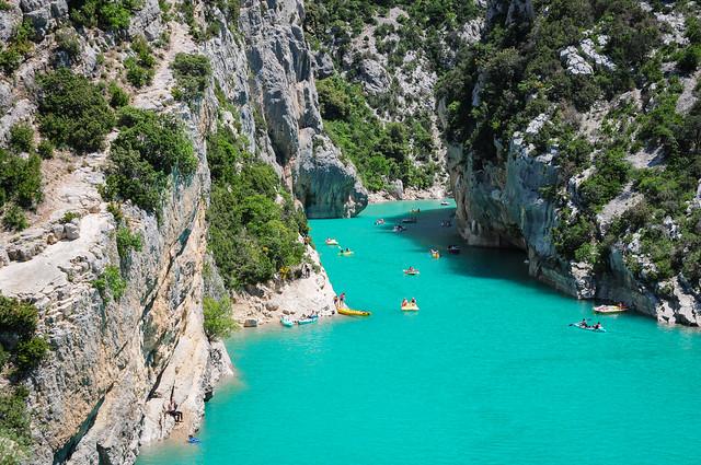Les eaux turquoises du Verdon