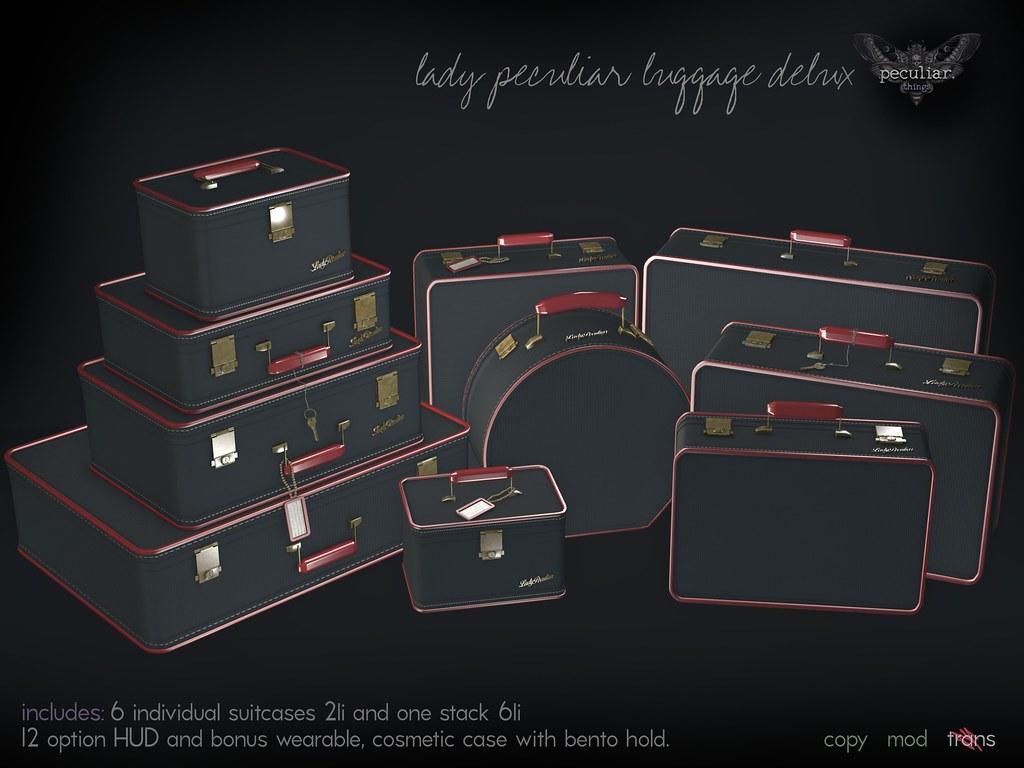 PROMO lady peculiar luggage delux