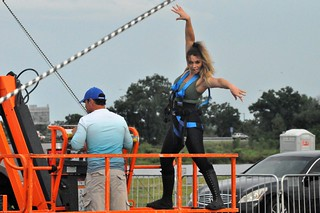 Nik Wallenda and Lijana Wallenda Practiced at Nathan Benderson Park, Sarasota, Fla., June 13, 2019, for Their NYC Times Square High Wire Walk | by JenniferHuber