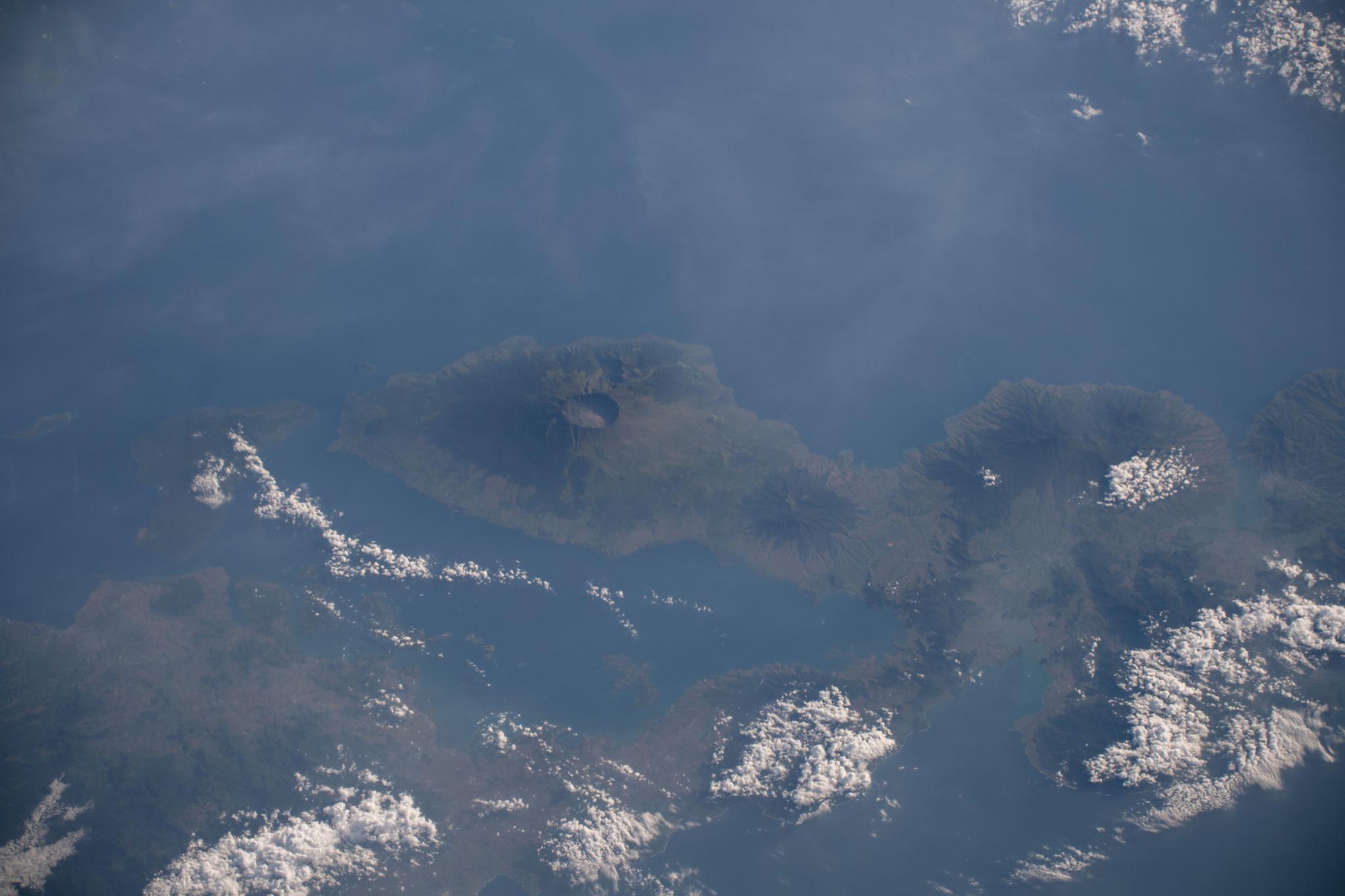 The active volcano of Mount Tambora