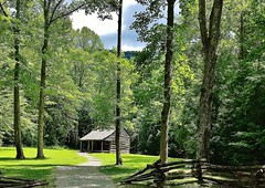 Carter Shields Cabin in Cades Cove, Tennessee, USA