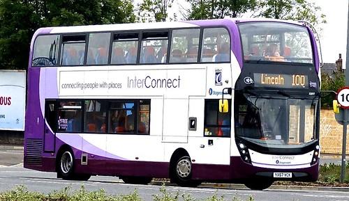 YX67 VCK 'Stagecoach in Lincolnshire' No. 10897 'Interconnect'. Alexander Dennis Ltd. (ADL) E40D / 'ADL' Enviro 400MMc on Dennis Basford's railsroadsrunways.blogspot.co.uk'
