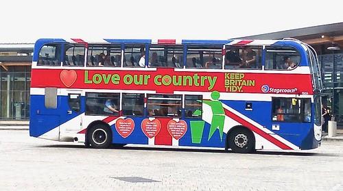 FX10 AFY /2 'Stagecoach in Lincolnshire' No. 15656. 'Love our country'' Scania N230UD /  Alexander Dennis Ltd. (ADL) Enviro 400 /2 on Dennis Basford's railsroadsrunways.blogspot.co.uk'