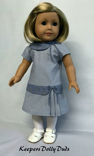 Late 1920s dropped waist dress fits American Girl Dolls ...