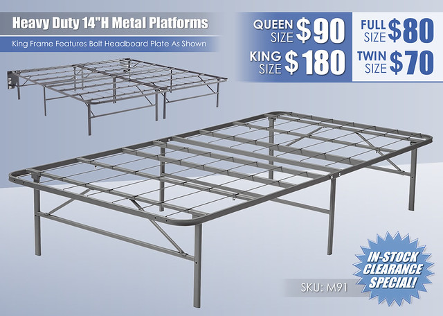 Heavy Duty Metal Platform Foundations 14in_Ashley_M91