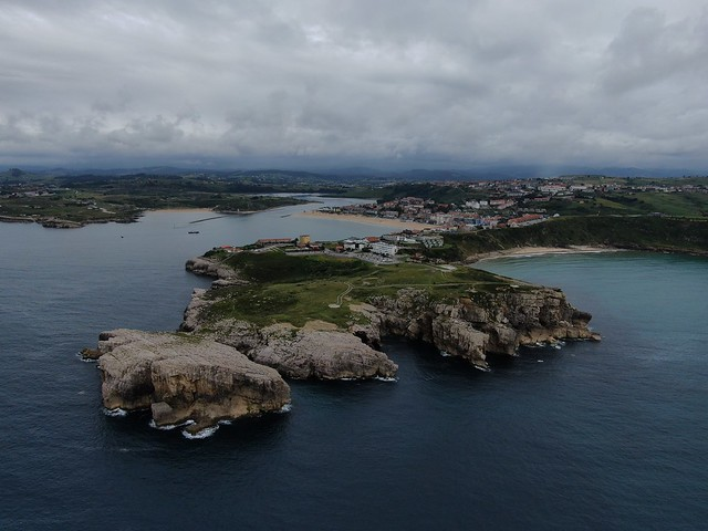 Suances in Cantabria - Spain aerial image