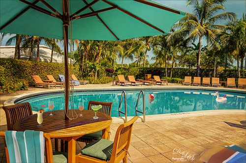 Image of a hotel swimming pool in Palm Beach, Florida