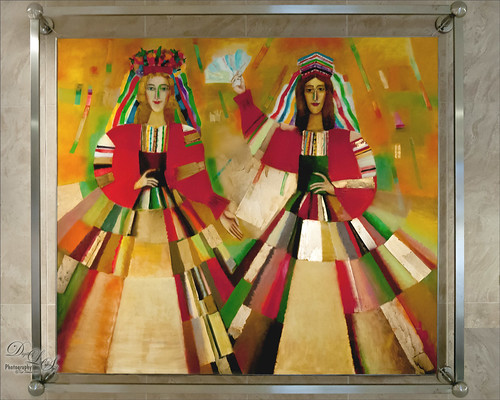 Image of folk art at the Minsk Library in Belarus