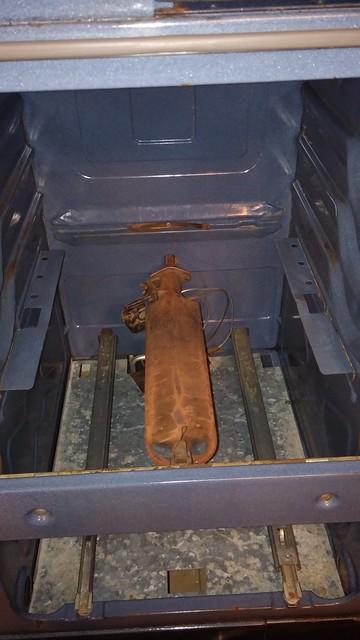 Oven zinc floor reinstalled.