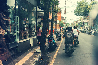 BALI, INDONESIA - JANUARY 25, 2019: Street in Ubud, island of Bali.