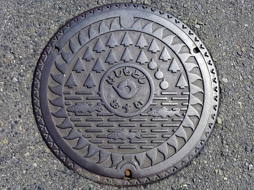 Hashimoto Wakayama, manhole cover 5 (和歌山県橋本市のマンホール5)
