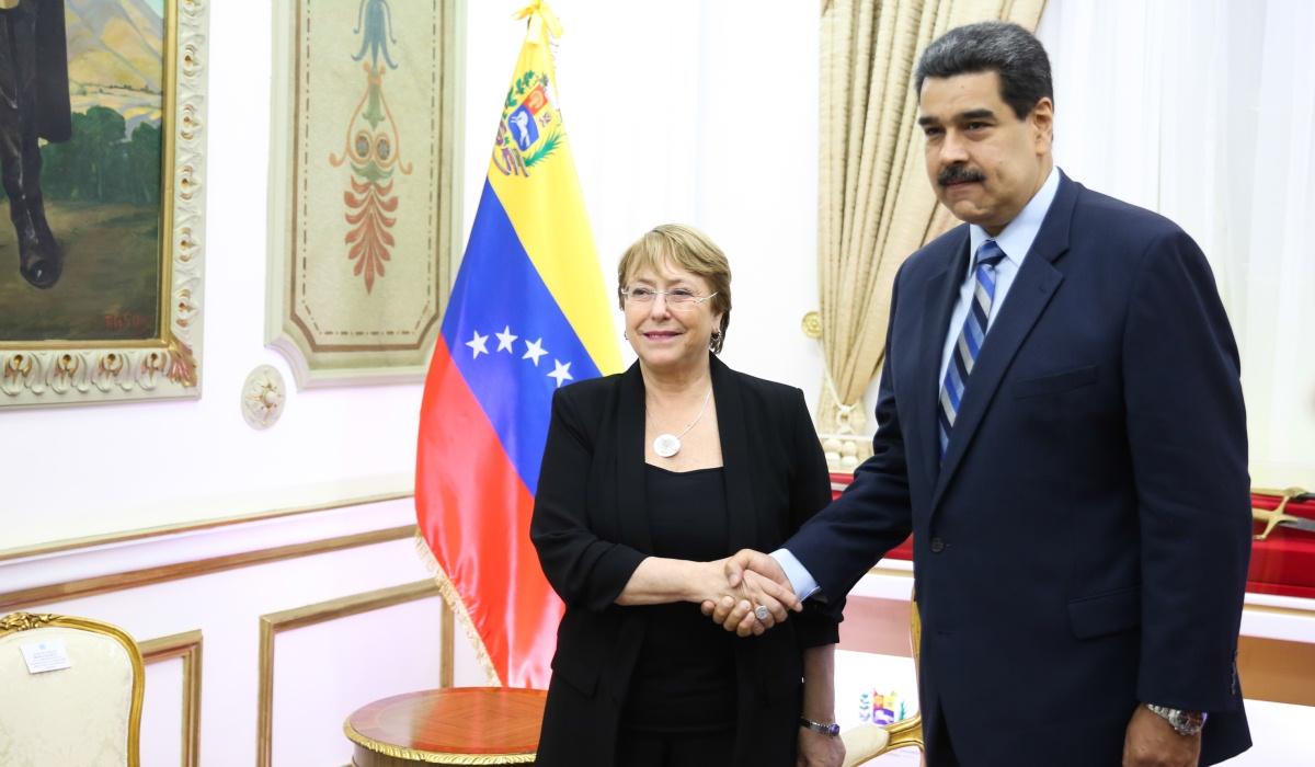 Presidente Maduro recibe a la Alta Comisionada de la ONU para los DDHH en el Palacio de Miraflores