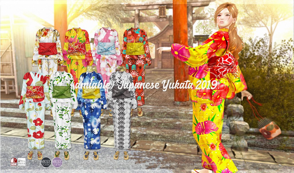 {amiable}Japanese Yukata2019@N°21 April(50%OFF SALE).